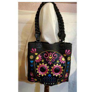 Loungefly Sugar Skull Floral Handbag Tote